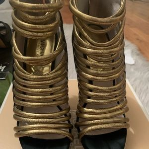 Black and Gold Michael Kors heels